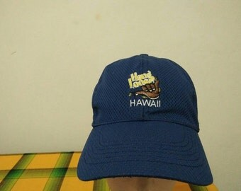 Rare Vintage HAWAII HANG LOOSE Cap Hat Free size fit all