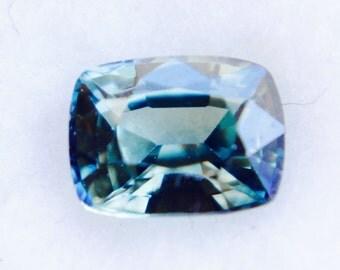 Natural Blue Green Sapphire Cushion Cut