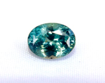 Natural Blue Green Sapphire Oval Cut 8 mm