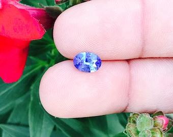 Ceylon Natural Blue Sapphire Oval Cut 8mm 1.35Ct - Loose Unset Unheated Untreated Sapphire Gemstone