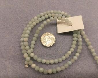 Amazonite 4mm round beads semi precious beads