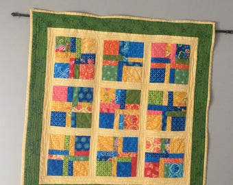 quilted wall hanging, wall hanging, pieced wall hanging, wall decor
