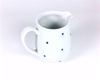 Vintage Jug with Blue Dots, Pot, Milk Can