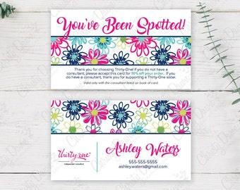 Thirty One - You've Been Spotted Card - Loopsy Daisy (template)
