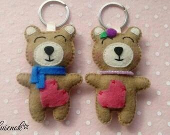 Mishki Mi-mi -bears   trinket   felt    Handmade teddy
