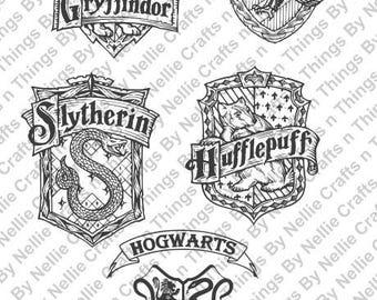 5 Harry Potter Crests SVG