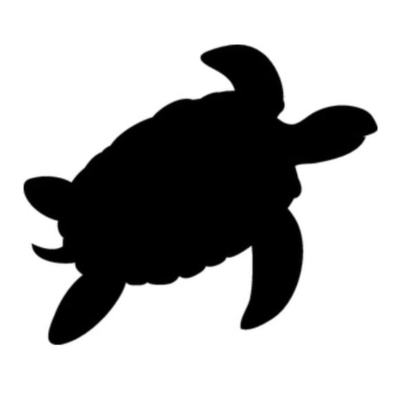 Pack Of 3 Turtle Stencils Made From 4 Ply Mat Board 11x14