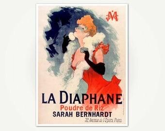 La diaphane, Poudre de Riz Poster Print - Vintage Belle Epoch Poster Art -  Jules Cheret Poster Art Print