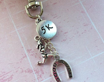 Good Luck 5k Gift - Running Keychain/ Colour Run Gift  5k Race Gift / Running Gift / Fun Run Gift / Running Keyring / Gifts for Runners
