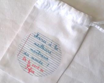 Fabric pouch custom master gift 10 x 15 cm