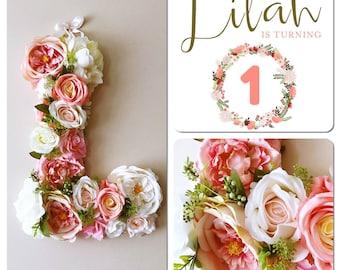 Flower Letters Floral Wedding White Boho Chic Weddings