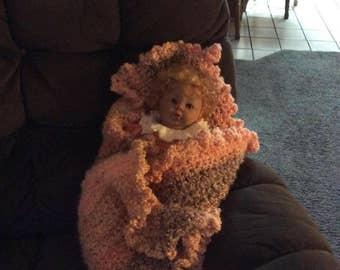 Sweet Peach Baby Blanket