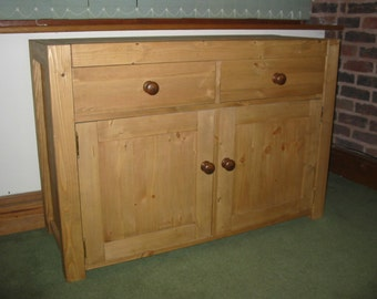 Rustic Modern Style Hand Made Hand Waxed 2 Door Sideboard.