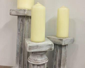 Antique Table Leg Candle Sticks