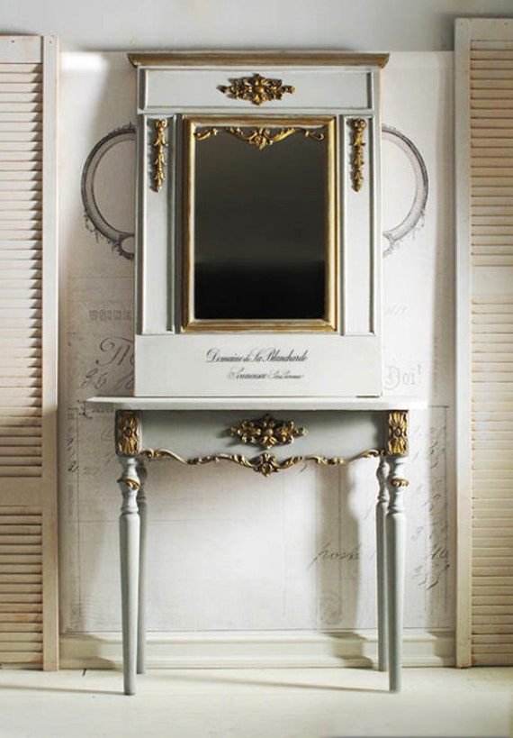 Farmhouse Foyer Mirror : French console table mirror farmhouse