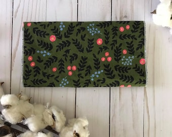 Rifle Paper Co Fabric Floral Burp Cloth - Floral Baby Girl Burp Cloth