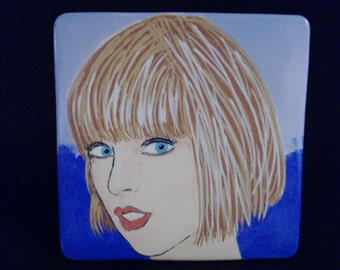 Taylor  2  ,     8 X 8 Ceramic Portrait , Price includes shipping in U.S.A.