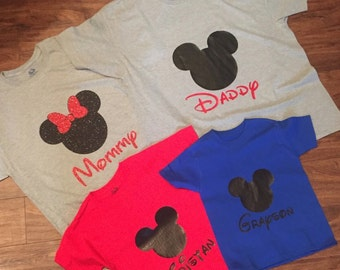 4 Pack Family Mickey Shirts