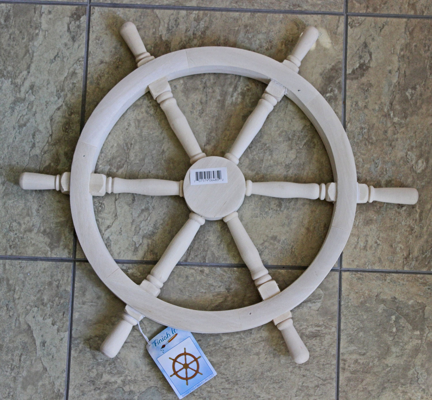 Ship Wheel Unfinished Wood Diy Supply Painting Surface Beach