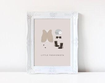 Little Fashionista Nursery Art Print | Nursery Art | Nursery Decor