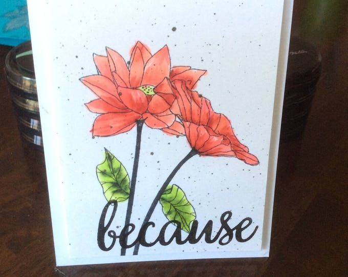 Friendship card, Thank You Card, Floral Card, Altenew Card, Hand Colored Card, Customizable Card, Handmade Card
