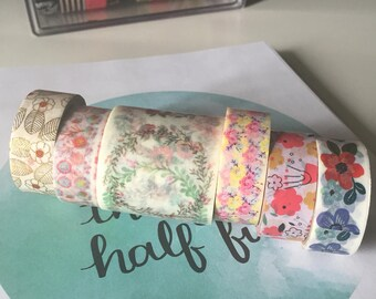 Floral Washi Tape - Sample