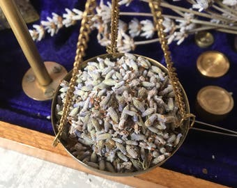 Organic English Lavender grains, dried herb mix 25g. For relaxation, meditation, cosmetics and potions