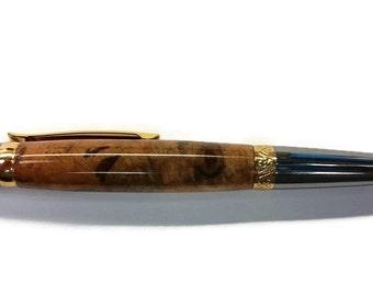 Handmade cherry burl twist pen