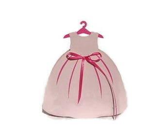 Dress Favor Box, SKU # BXBP0161, Girls Dress, Princess Dress Favors