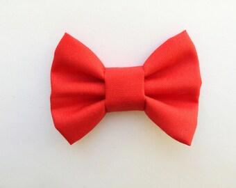 MINI Red Bow, baby headbands, baby hair bows, hair clips, headbands, hair bows, red bow, baby gift, baby girl