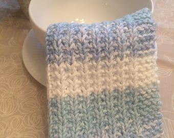 Blue Stripes Dishcloth