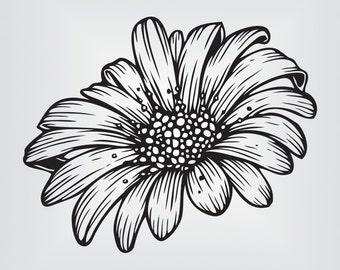 Daisy Flower Svg, Cricut, Silhouette Cameo, die cut, instant download, Digital Cut, Print Files, Ai, Pdf, Svg