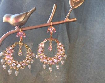 Chandelier Moon Earrings - Chand Bali