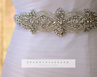 SALE! SPARKLING WEDDING sash! Bridal Sash Prom Sash Quinceanera