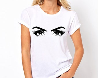 Dramatic Eyes T-Shirt Woman's Eyes Eyelashes T Shirt