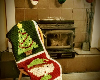 Christmas Corner to Corner Blanket