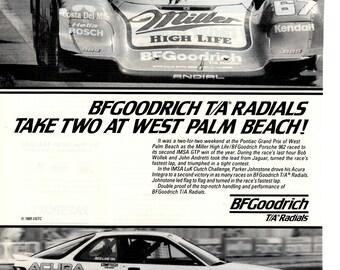 1989 BF Goodrich TA Radials vintage magazine ad wall decor (1704)
