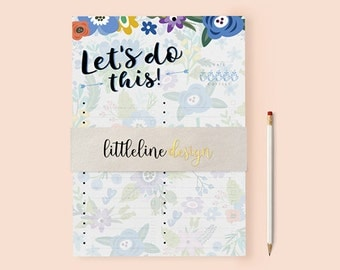 Bold Floral To Do List | INSTANT DOWNLOAD | A4