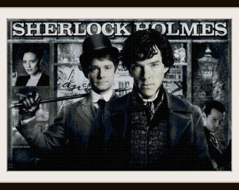 Sherlock Cross Stitch Pattern - Sherlock Holmes - PDF Download