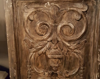 Set of 4 Italian Carved Wooden Panels