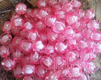 12mm 30pc. Pink Melon Acrylic Beads