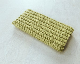 Knitted iPhone sock for 7, 6 or 6S, smartphone cover case, pale lime green