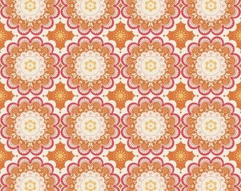 Orange Flutter Doily by The Quilted Fish and Riley Blake Designs c3132 Orange Cotton Fabric for Baby Girl Nursery Fabric - Cute Fabric