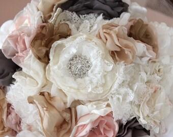 wedding dress, Wedding Bouquet ready shipped / Loan Shipped /Decoration, bouquet, dirty Bouquet Silk Flowers, Fabric Brooch, Brautstrauss