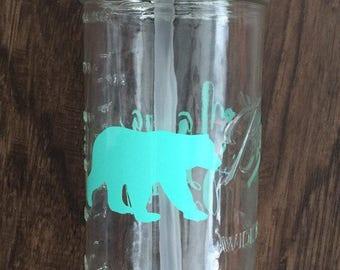 Mama Bear Mason Jar Tumbler Cup