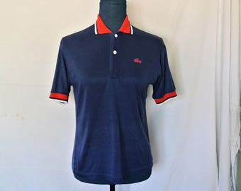 Vintage Lacoste Polo, Navy Blue