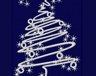 Christmas tree - Machine Embroidery Design