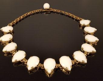 Vintage - White Onyx Necklace