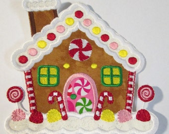 Gingerbread House - Ready To Ship  SEWFAST- Iron On Embroidered Applique