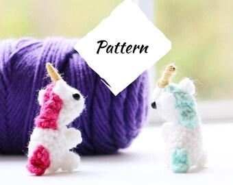 PATTERN - Amigurumi Mini Unicorn Plush Crochet Pattern - Unicorn Pattern - Unicorn Pattern - Unicorn Pattern - Unicorn Pattern -Tiny Unicorn